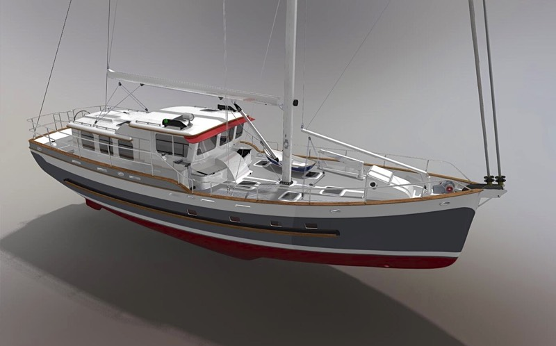 Robert h perry yacht designers inc custom designs for Garden design trawler boat