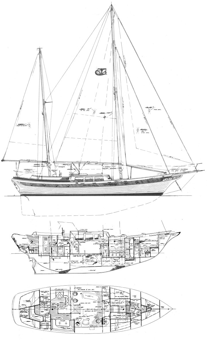 Art Line Yacht Design : Robert h perry yacht designers inc drawings plans