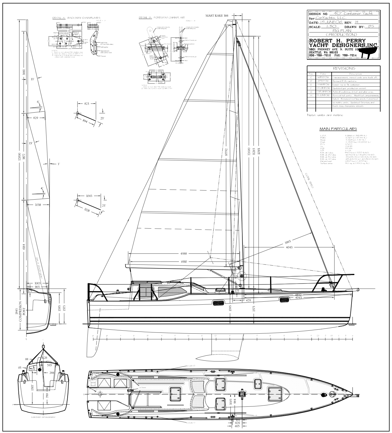 Robert H. Perry Yacht Designers, Inc. Drawings & Plans