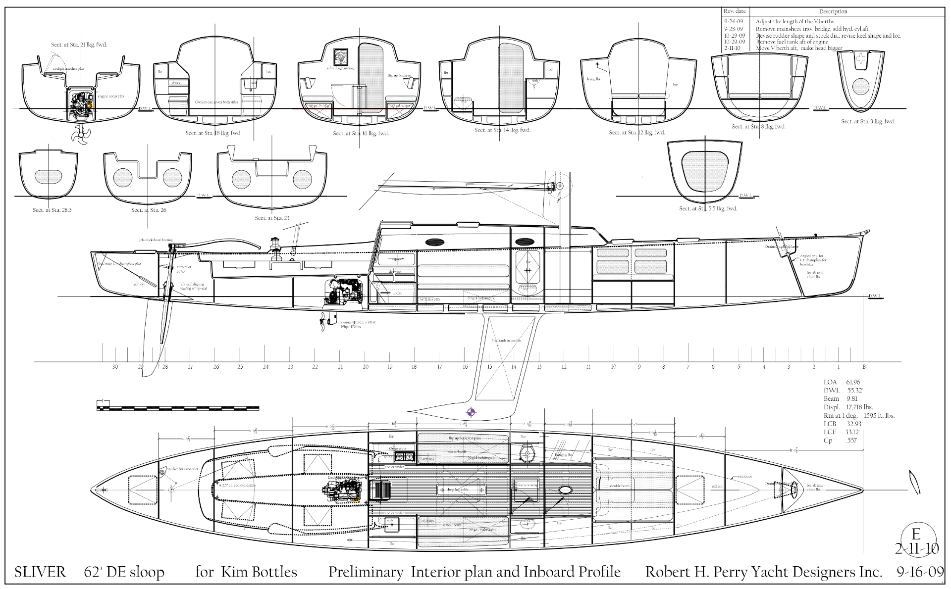 Art Line Yacht Design : Robert h perry yacht designers inc