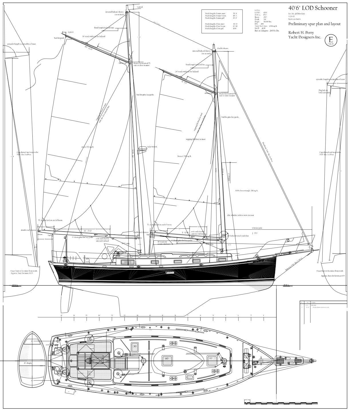 Robert H  Perry Yacht Designers, Inc  Drawings & Plans